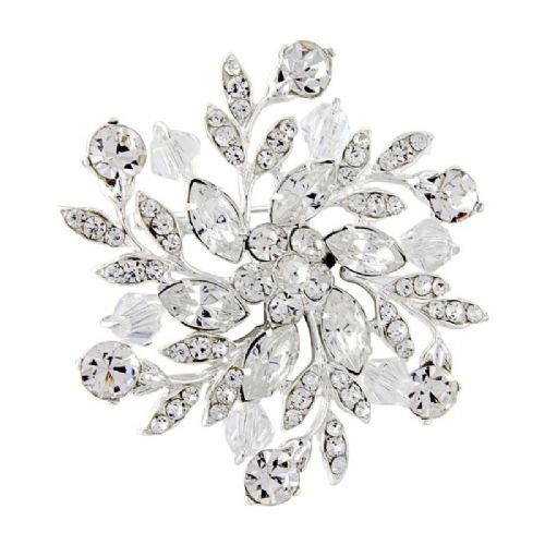 Sparkling Crystal Wedding Brooch